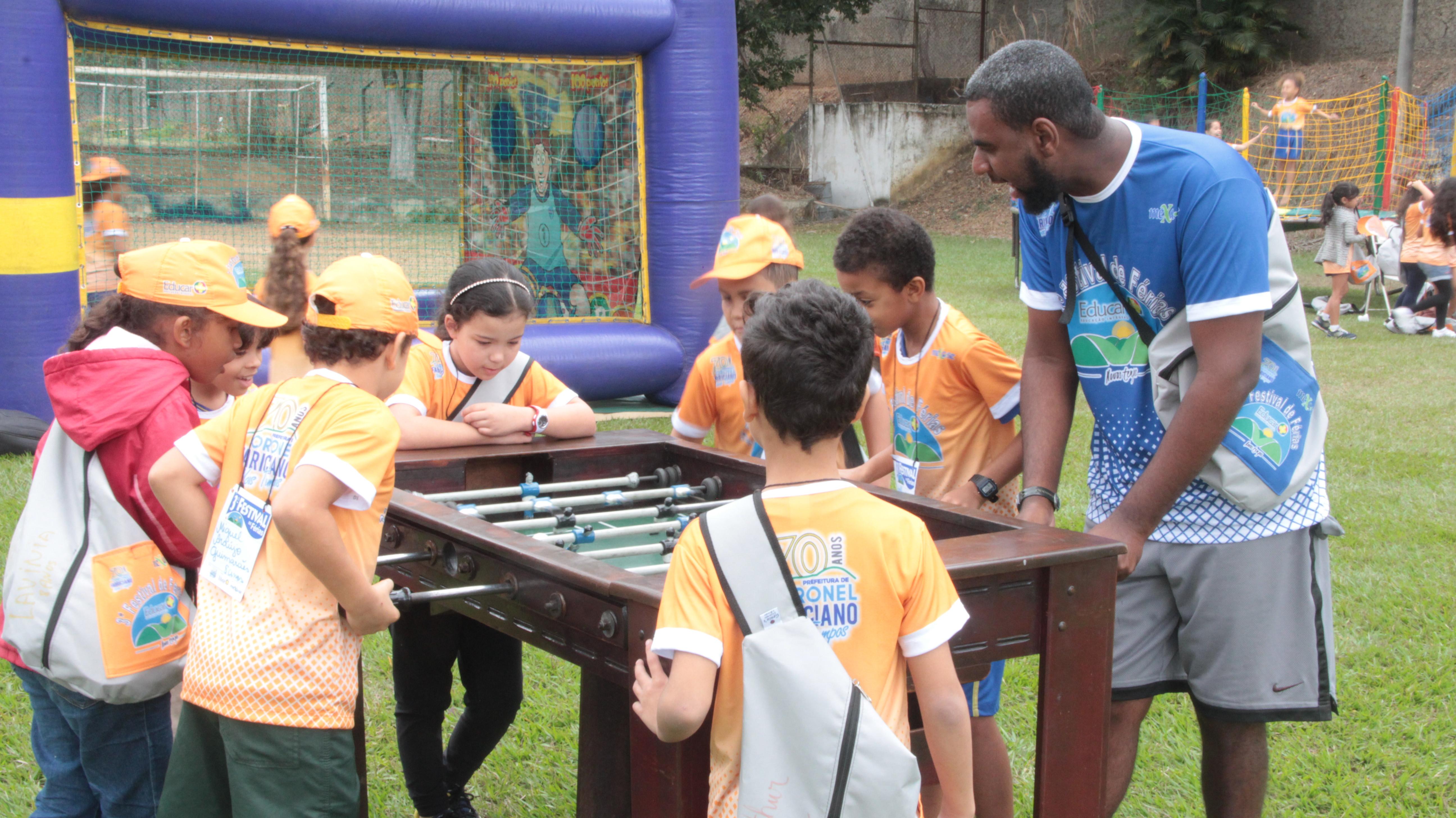 O objetivo do Festival de Férias é oferecer às crianças opções recreativas, de lazer, esportivas e culturais