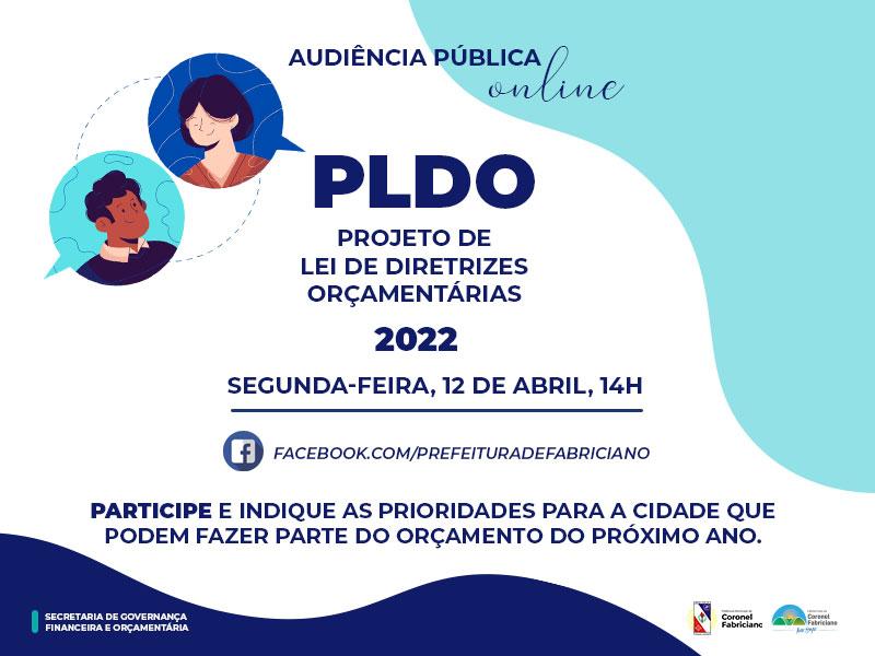 Prefeitura de Fabriciano realiza audiência pública online para debater o Projeto de Lei de Diretrizes Orçamentárias 2022
