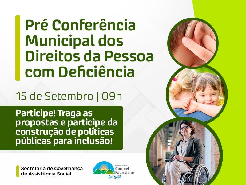 Fabriciano realiza Pré-conferência dos direitos da pessoa com deficiência