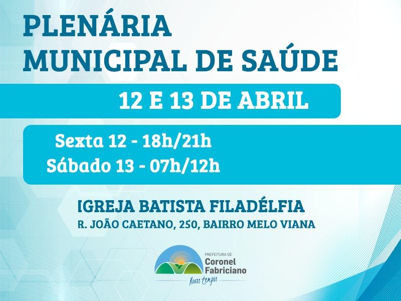 Fabriciano realiza Plenária Municipal da Saúde