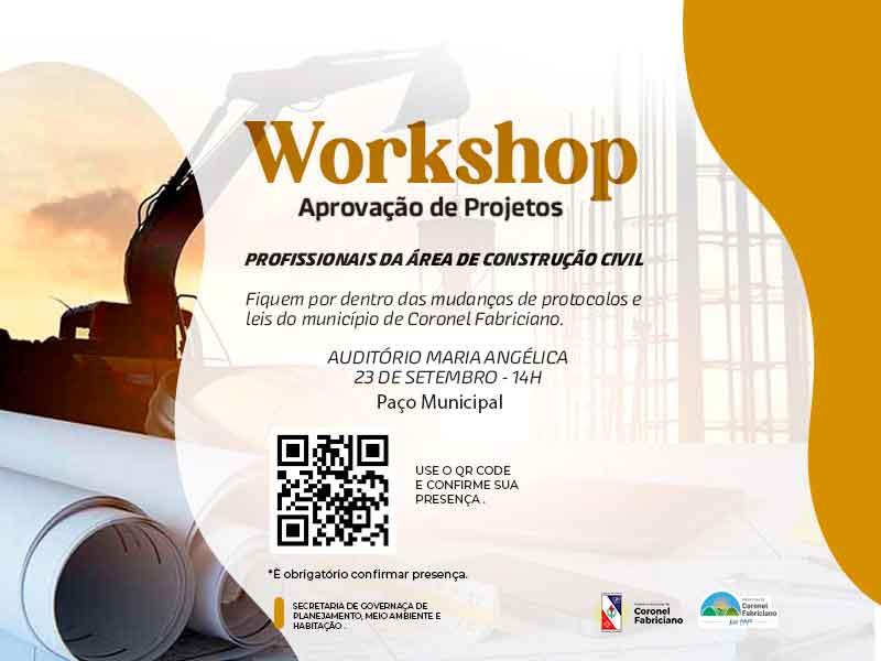 Profissionais da construção civil participam de Workshop sobre aprovação de projetos em Fabriciano